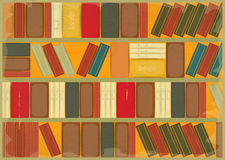 Book Background Retro Style. Bookcase. Illustration Royalty Free Stock Photography