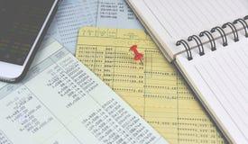 Book bank saving. Royalty Free Stock Photo