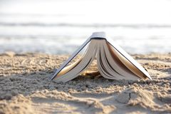 Book on the beach Stock Photography