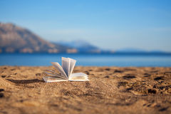 Book on a beach Royalty Free Stock Photo