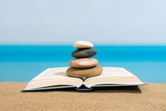 Book on the beach in relax Royalty Free Stock Image
