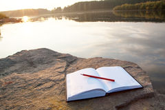 Book. Beautiful landscape Royalty Free Stock Photography
