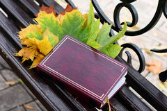 Book on a bench Stock Images
