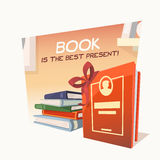 Book is the best present Stock Image