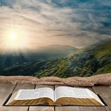 Book. Bible Open Old Religion Christianity Spirituality Royalty Free Stock Photo