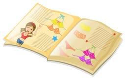 Book and bikini. Illustration of a book of bikini Stock Image