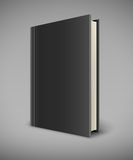 Book with black blank cover Royalty Free Stock Images