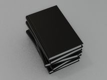 Book black on gray skin. 3d Royalty Free Stock Photo