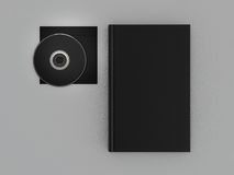 Book black mockup on gray skin. High resolution Stock Images