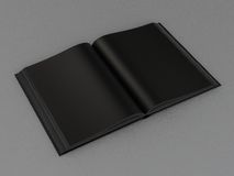 Book black mockup on gray skin. Book black mockup the gray skin High resolution Stock Photography