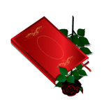 Book and black rose Royalty Free Stock Photo