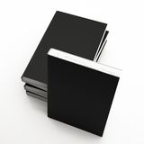 Book black. On a white background. 3d rendering Royalty Free Stock Image