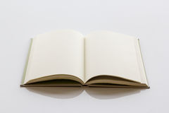 Book with blank page. Stock Photos
