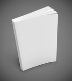 Book with blank white cover. Blank book cover vector illustration gradient mesh used EPS10. Transparent objects used for shadows and lights drawing Stock Photography
