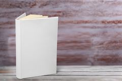 Book. Blank white open cover spread page stock image