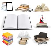 Book. Icon open boards studying literature closeup Stock Photography