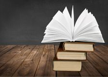 Book. Icon open boards studying literature closeup Royalty Free Stock Photo