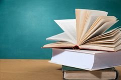 Book. Open club green covers school literature royalty free stock photo