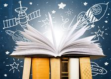 Book. Open icon business studying literature closeup Stock Photo