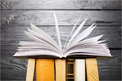 Book. Open icon business studying literature closeup Royalty Free Stock Image