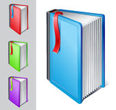Book with bookmark stock illustration