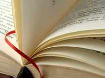 Book with bookmark Stock Photography