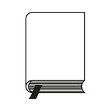 The book with the bookmark. Vector. Bookmark icon on white background Stock Image