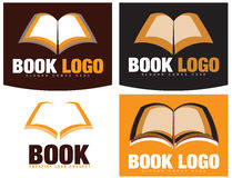 Book or Bookstore Logo. Creative logo template of a stylized book. Could be used for a public library, bookstore, editorial or publishing house Stock Photo