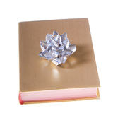 book bow gold silver wrapped Стоковое Изображение