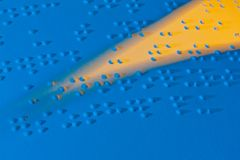 Book in Braille. Braille for the blind Royalty Free Stock Photos