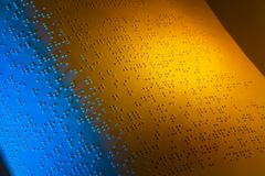 Book in Braille. Braille for the blind Royalty Free Stock Images