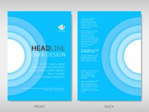 Book, brochure, flyer or report cover template design in blue ci. Rcle layer abstract theme royalty free illustration