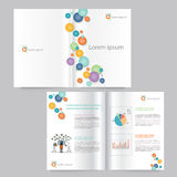 Book and brochure template design.editable Stock Image