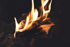 Book burning in flames, old memories vanished forever. All digitized books Royalty Free Stock Photography