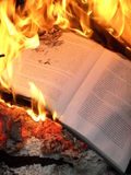 Book burning Stock Images