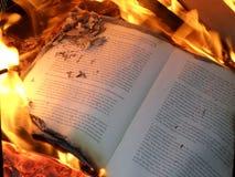 Book burning Royalty Free Stock Image