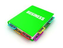 Book about business Stock Image