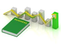 Book business and graph changes Royalty Free Stock Image