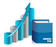 Book business and graph chart. Illustration design Royalty Free Stock Photos