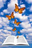 Book with butterflies Stock Image