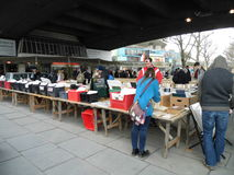 Book buying on the Southbank Stock Photography