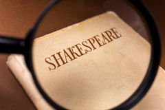 Free Book By Shakespeare On Through Magnifying Glass Stock Photography - 74666452