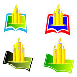Book with candle Royalty Free Stock Images