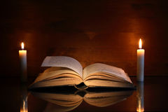 Book And Candles Royalty Free Stock Image