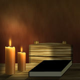 Book & Candles Royalty Free Stock Photo