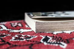 Book on carpet Royalty Free Stock Photography