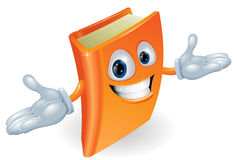Book cartoon character mascot Stock Images