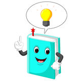 Book cartoon pointing with his finger Royalty Free Stock Image
