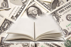 Book and cash royalty free stock image
