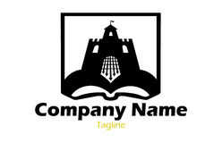 Book and castle logo Stock Photo